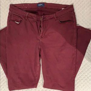 Old navy skinny rockstar jeans.